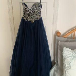 david's bridal prom dress .